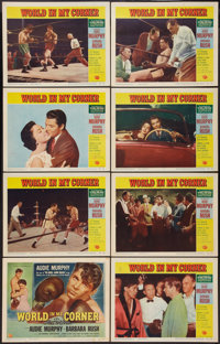 "World in My Corner (Universal International, 1956). Lobby Card Set of 8 (11"" X 14""). Drama. ... (Total: 8 Item..."