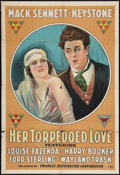 "Movie Posters:Comedy, Her Torpedoed Love (Triangle, 1917). One Sheet (27"" X 41"").Comedy.. ..."