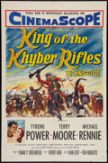 """Movie Posters:Adventure, King of the Khyber Rifles (20th Century Fox, 1954). One Sheet (27""""X 41""""). Adventure.. ..."""