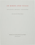 Books:Natural History Books & Prints, Scott and Stuart Gentling. Of Birds and Texas. Fort Worth:Gentling Editions, 1986....