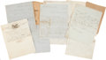 Autographs:Non-American, Nine Letters by 19th Century Mexican Leaders. Includes:. ...
