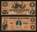 Canadian Currency: , Toronto, CW- The Colonial Bank of Canada. . ... (Total: 2 notes)
