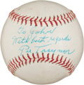 Autographs:Baseballs, 1960's Pie Traynor Single Signed Baseball....
