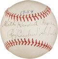 Autographs:Baseballs, 1954 Ray Schalk Single Signed Baseball....
