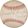 "Autographs:Baseballs, 1954 ""Wahoo Sam"" Crawford Single Signed Baseball...."