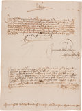 "Autographs:Statesmen, Queen Isabella I of Castile 1501-Dated Document Signed ""Yo LaReina""...."