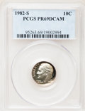 Proof Roosevelt Dimes: , 1982-S 10C PR69 Deep Cameo PCGS. PCGS Population (2463/97). NGCCensus: (383/53). Numismedia Wsl. Price for problem free N...