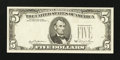 Error Notes:Third Printing on Reverse, Fr. 1976-F $5 1981 Federal Reserve Note. Choice About Uncirculated.. ...