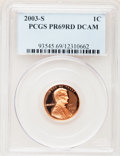 Proof Lincoln Cents, 2003-S 1C PR69 RD Deep Cameo PCGS. PCGS Population (6041/141). NGCCensus: (0/0). Numismedia Wsl. Price for problem free N...