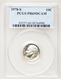 Proof Roosevelt Dimes: , 1978-S 10C PR69 Deep Cameo PCGS. PCGS Population (4524/242). NGCCensus: (312/40). Numismedia Wsl. Price for problem free ...