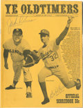 Autographs:Others, 1969 Jackie Robinson & Babe Herman Signed Old Timers Program....