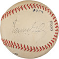 Autographs:Baseballs, 1954 Warren Giles Double Signed Baseball....