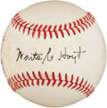 Autographs:Baseballs, Circa 1980 Waite Hoyt Single Signed Baseball....