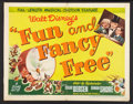 "Movie Posters:Animated, Fun and Fancy Free (RKO, 1947). Half Sheet (22"" X 28""). Animated....."