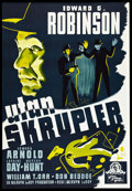 "Movie Posters:Crime, Unholy Partners (MGM, 1943). Swedish One Sheet (27.5"" X 39.5"").Crime.. ..."