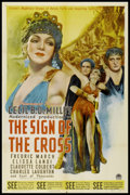 """Movie Posters:Drama, The Sign of the Cross (Paramount, R-1944). One Sheet (27"""" X 41""""). Drama.. ..."""