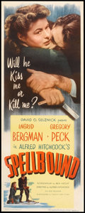 "Movie Posters:Hitchcock, Spellbound (Eagle Lion, R-1949). Insert (14"" X 36""). Hitchcock....."