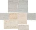 Miscellaneous:Ephemera, Confederate Texas: Eight Documents, including: Three Confederateinvoices for various items, all dated 1863 and 1864 from Je...(Total: 12 Items)