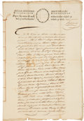 Autographs, [Stephen Austin's Old Three Hundred] 1829 Manuscript Copy of aLegal Case Regarding a Debt Owed by Isaac Hughes to John D. Tay...