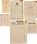 Miscellaneous:Broadside, Six 19th Century Mexican Imprints. Includes:. ...