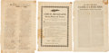 Miscellaneous:Broadside, Eight 19th Century Mexican Imprints. Includes:. ...