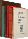 Books:First Editions, Six Central and Southeast Texas County Histories, including AWindow to the Past: A Pictorial History of Brazoria County...(Total: 6 Items)