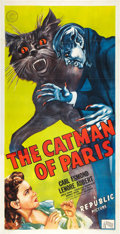 "Movie Posters:Horror, The Catman of Paris (Republic, 1946). Three Sheet (41"" X 81"").. ..."
