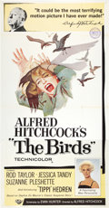 "Movie Posters:Hitchcock, The Birds (Universal, 1963). Three Sheet (41"" X 81"").. ..."