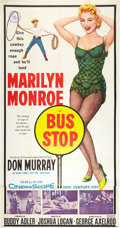 "Movie Posters:Drama, Bus Stop (20th Century Fox, 1956). Three Sheet (41"" X 81"").. ..."
