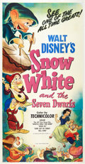 "Movie Posters:Animation, Snow White and the Seven Dwarfs (RKO, R-1951). Three Sheet (41"" X81"").. ..."