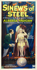 "Movie Posters:Drama, Sinews of Steel (Lumas, 1927). Three Sheet (41"" X 81"").. ..."