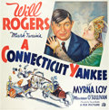 "Movie Posters:Comedy, A Connecticut Yankee (Fox, R-1936). Six Sheet (81"" X 81"").. ..."