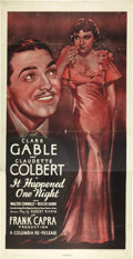 "Movie Posters:Academy Award Winners, It Happened One Night (Columbia, R-1948). Three Sheet (41"" X 81"")....."
