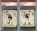 Hockey Cards:Lots, 1936-37 V304D O-Pee-Chee Hockey HoFers PSA-Graded Pair (2). ...