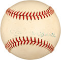 Autographs:Baseballs, Circa 1961 Mickey Mantle & Roger Maris Signed Baseball....