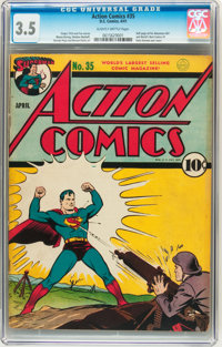 Action Comics #35 (DC, 1941) CGC VG- 3.5 Slightly Brittle pages