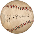 Autographs:Baseballs, Circa 1930 Honus Wagner Single Signed Baseball....