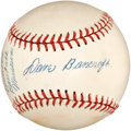 Autographs:Baseballs, 1954 Dave Bancroft Single Signed Baseball....