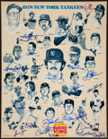 Baseball Collectibles:Others, 1978 New York Yankees Team Signed Poster....