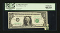 Error Notes:Foldovers, Fr. 1900-J $1 1963 Federal Reserve Note. PCGS Extremely Fine40PPQ.. ...