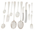 Silver Flatware, British:Flatware, The Collection of Paul Gregory and Janet Gaynor. AN ENGLISHSILVER PLATED FLATWARE SERVICE . Cooper Brothers, Sheffiel...(Total: 111 Items)