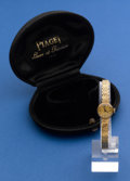 Timepieces:Wristwatch, Piaget Ladies 18k Gold Manual Wind Wristwatch With 18k Band. ...