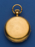 Timepieces:Pocket (post 1900), Favre Brandt 18k Gold 50 mm 19 Jewel Hunter's Case Pocket Watch. ...