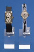 Timepieces:Wristwatch, Two Ladies 14k White Gold Wristwatches. ... (Total: 2 Items)
