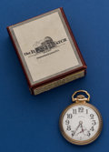 Timepieces:Pocket (post 1900), Illinois 21 Jewel Bunn Special Pocket Watch With Box. ...