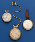 Timepieces:Pocket (post 1900), Three Pocket Watches Lord Elgin 21 Jewel, Illinois Monarch 19Jewel, Elgin 16 Size 17 Jewel. ... (Total: 3 Items)