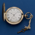 Timepieces:Pocket (pre 1900) , Waltham Model 57 P.S. Bartlett Key Wind With An Interesting 4 1/2oz. Silver Case. ...