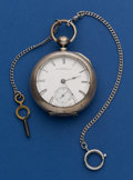 Timepieces:Pocket (pre 1900) , Illinois Hoyt 11 Jewel Coin Silver Key Wind Pocket Watch No. 47326....