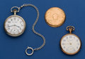 Timepieces:Pocket (post 1900), Two 16 Size Running Pocket Watches. ... (Total: 2 Items)