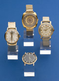 Timepieces:Wristwatch, Four Running Vintage Wristwatches. ... (Total: 4 Items)